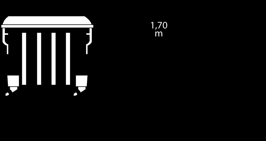 Containerdienst Containermaße: 1,37 x 1,47 x 1,11