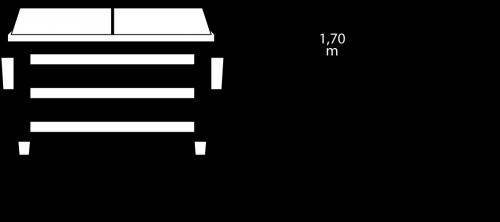 Containerdienst Containermaße: 2,40 x 1,66 x 1,85