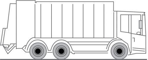 Fahrzeug LKW für Umleerbehälter und Hecklader zur Entsorung / Container Transport
