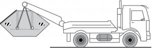 Fahrzeug LKW für Absetzmulden zur Entsorgung / Container Transport