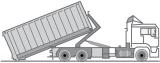 Fahrzeug LKW für Abrollcontainer zur Entsorgung / Container Transport